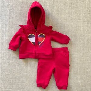 Cute little Tommy Hilfiger bling sweat suit set